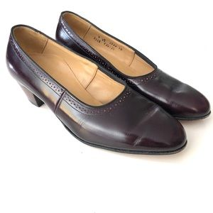Fsp Shoes by Musebeck Comfort Burgundy Low Heels